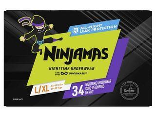 Ninjamas Nighttime Bedwetting Underwear For Boys Blue l Xl