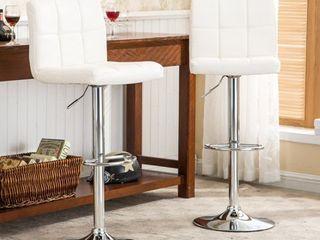 Roundhill Swivel Elegant PU leather Modern Adjustable Hydraulic Barstools