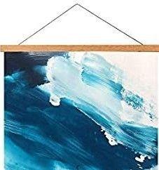 Teak Wood Magnetic Poster Frame Hanger  36  length Magnet Poster Frame