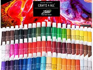 Crafts 4 All Acrylic Paint Set 60 Color Pack Use On Canvas Wood Fabric