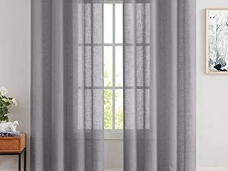 BEST DREAMCITY Sheer Curtains Gray