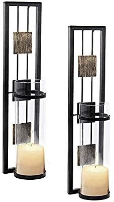 Shelving Solution Wall Sconce Candle Holder Metal Wall Decor