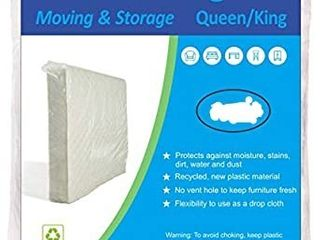 ComfortHome 1 Pack 6 Mil Mattress Bag for Moving and Storage  Queen King Size