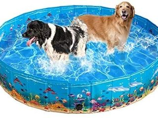 KOOlTAIl Foldable Dog Swimming Pool