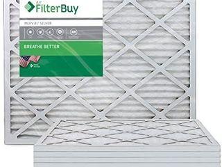 FilterBuy 20x25x1  Pleated HVAC AC Furnace Air Filter  MERV 8  AFB Silver  6 Pack