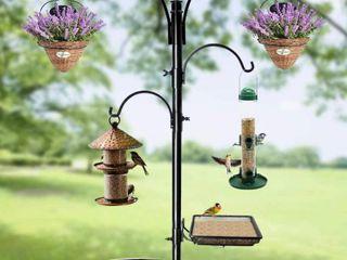Shrdaepe Premium Bird Feeding Station Kit  Bird Feeder Pole Wild Bird Feeder Hanging Kit