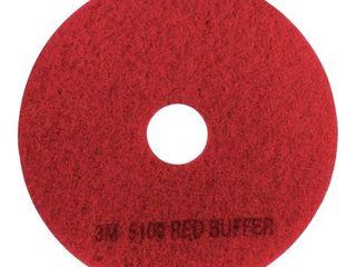 3M Red Buffer Pad 5100  19  Floor Buffer  Machine Use  Case of 5