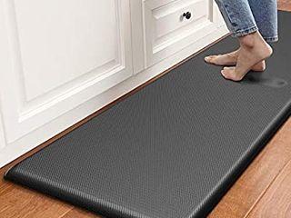 DEXI Anti Fatigue Comfort Mat Kitchen Rug  3 4 Inch Cushioned Memory Foam Floor Mat