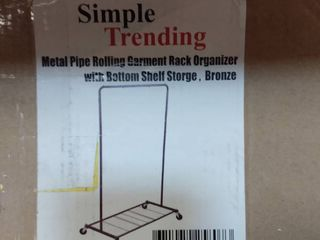Simple Trending Industrial Pipe Clothes Garment Rack Commercial Clothing Roll