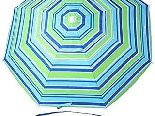 MOVTOTOP Beach Umbrella UV 50  6 5ft Umbrella with Sand Anchor   Tilt Aluminum Pole  Portable Beach Umbrella with Carry Bag for Beach Patio Garden Outdoor