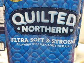 Quilted Northern Ultra Soft   Strong Toilet Paper  8 count  33 regular rolls