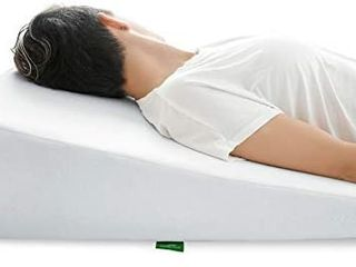 Cushy Form Wedge Pillow for Sleeping 10 Inch Memory Foam Bed Wedge for Sleeping
