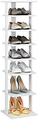 HOMEFORT 7 Tier Shoe Rack  Entryway Shoe Tower Vertical Shoe Organizer