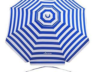 MOVTOTOP Beach Umbrella  6 5ft Sand Anchor with Tilt Aluminum Pole