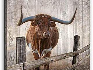 Rustic Wall Decor Canvas Wall Art of Texas longhorns
