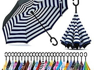 Spar  Saa Double layer Inverted Umbrella with C Shaped Handle