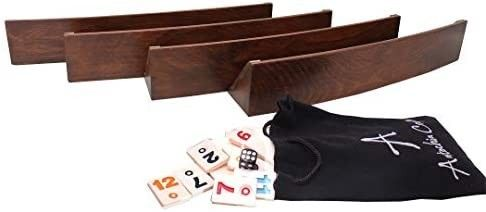 Antochia Crafts Wooden Oval Racks for Rummy Tile Game