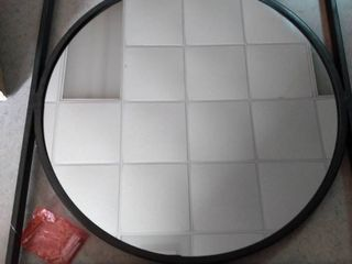 Circular Wall Mirror With Square Frame