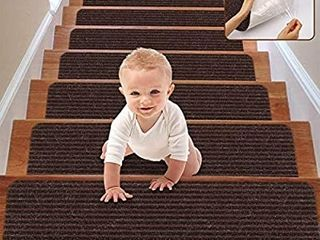 RIOlAND Stair Treads Carpet Non Slip Indoor Stair Runners for Wooden Steps