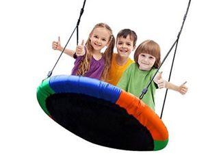 blue island tree swing children s outdoor large size 40 diameter durjle swing easy installation