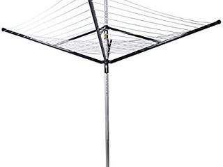 Drynatural Clothesline Outdoor Rotary Dryer  4 Arms Foldable Heavy Duty Height Adjustable Clothes Drying Rack  196FT Drying Space  Hang Wet or Dry laundry