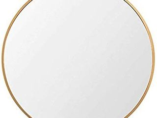 Beauty4U 26a Gold Nordic Round Mirror Mid Century Modern Round Metal Frame Mirror Brass Wall Mounted Mirror Circle Bathroom for Wall