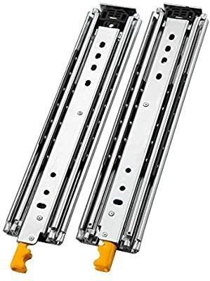 AOlISHENG Heavy Duty Drawer Slides 24 Inch with lock  Full Extension Ball Bearing  500 lb load Capacity  1 Pair