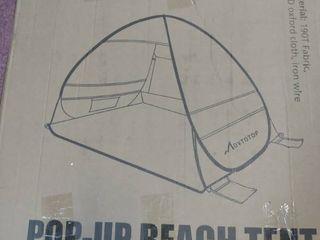 large Pop up Beach Tent Automatic Sun Shelter Outdoor Cabana Sun Umbrella