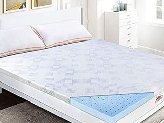 Maxzzz 2 Inch Gel Infused Memory Foam Mattress Topper  Cool   Hypoallergenic Foam Toppers for Bed with Washable Cover