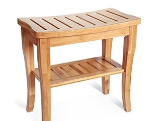 Precision Works luxurious 100  Bamboo Bathroom Bench