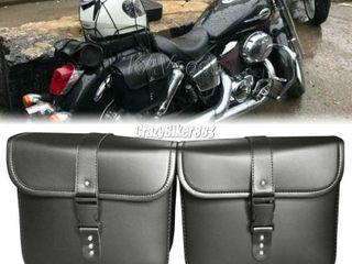 Saddlebags For Motorcycle Universal leather PU Waterproof Saddlebags Softailfor Scooter Honda Suzuki Yamaha