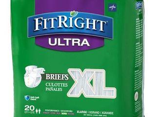 Medline FitRight Ultra Briefs  Xl  20 count