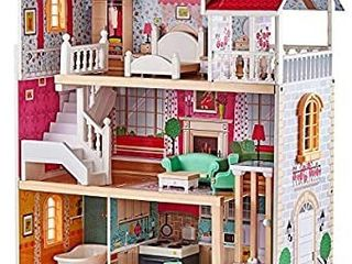 TOP BRIGHT Country Estate Wooden Dollhouse