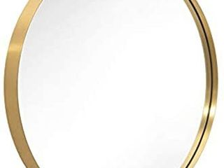 ANDY STAR 30  Gold Round Mirror for Bathroom  Circle Wall Mirror Mounted  Modern Brushed Brass Metal Frame Round Mirror for Wall Decor  Vanity  living Room  Bedroom