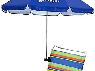 AMMSUN Chair Umbrella with Adjustable Clamp 43 inches UPF 50  Great for Patio Chairs