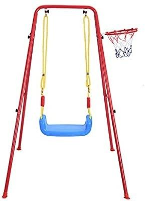 Children s Toy Swing Basketball Frame Combination Set