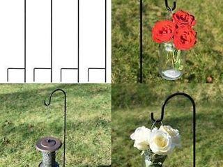 Garden Shepard Hooks Steel Hanging Solar lights Bird Feeder lanterns Plant