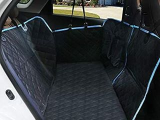 Waterproof and Scratchproof   Nonslip Backing   Hammock Convertible and Side Flaps for dog seat cover