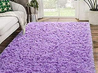 Zareas Modern Furry Area Rugs for living Room 4x6 Purple Shag Rug