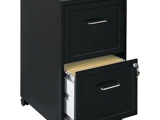 Hirsh Industries Space Solutions File Cabinet on Wheels 2 Drawer   Black