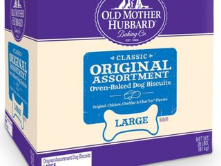 Old Mother Hubbard Classic Crunchy Original Assortment Biscuits large oven Baked Dog Treats   20lb