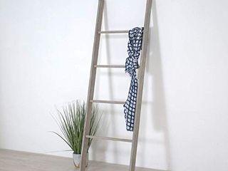 Wooden Decorative ladder Shelf  Blanket ladder  Distressed ladder Display