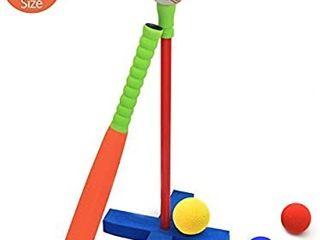 CeleMoon 21 Inch Kids Soft Foam T Ball Baseball Set Toy
