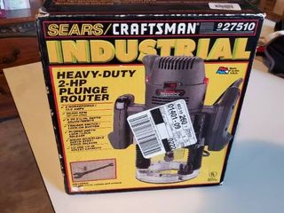 Sears Craftsman Heavy Duty Plunge Router