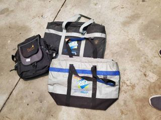 lot of 2 Thermal Controlled Bags and 1 Backpack