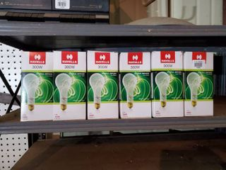 lot of 6 Havells 300W light Bulbs