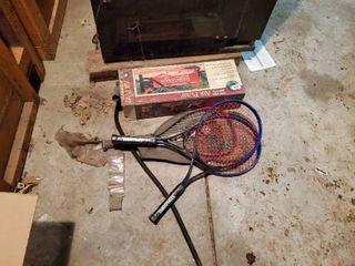 lot of 4 Rackets and Air Pump