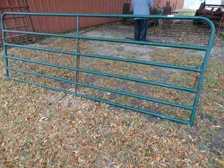 Green tube drive through farm gate