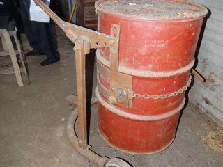 Barrel dolly w  metal barrel