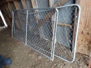 2 chain link drive through gates